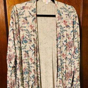 LULAROE XL FLORAL LIGHT SWEATER